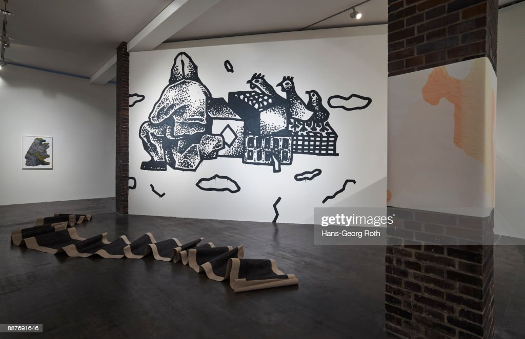 Art work seen during the 'Lisa Pahlke und Richard Leue - Kopf oder Zahl' Exhibition Preview at MMK3 In Frankfurt exhibition preview at MMK 3 on December 7, 2017 in Frankfurt am Main, Germany. The exhibition opens on December 8th and runs until February 4th 2018.