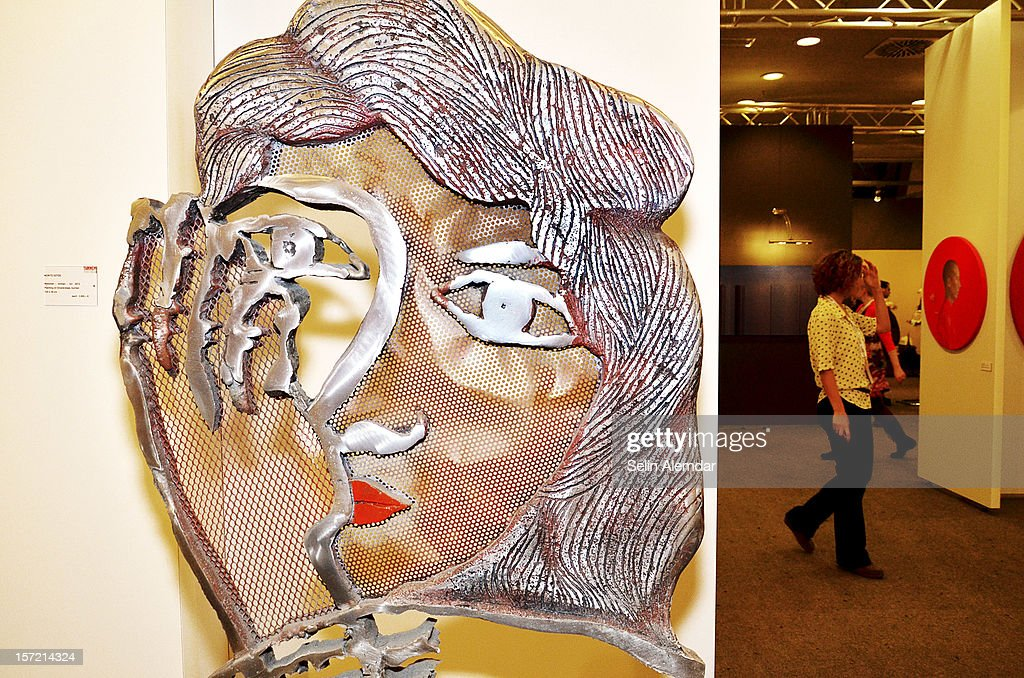 Art work 'Woman' by Moritz Gotze is displayed at Contemporary Istanbul on November 22, 2012 in Istanbul, Turkey.