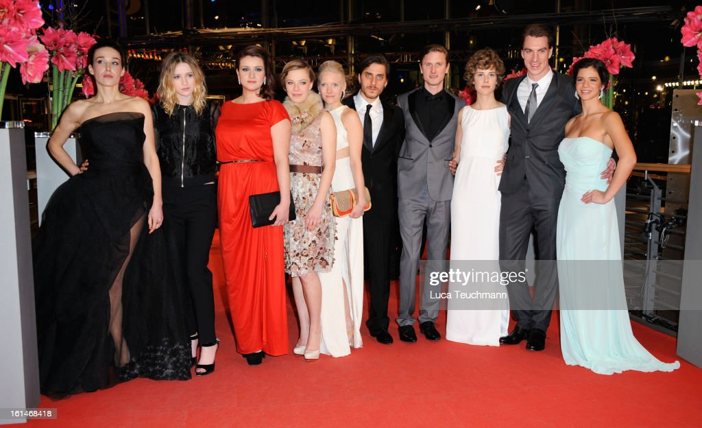 Arta Dobroshi; Christa Theret; Nermina Lukac; Saskia Rosendahl; Laura Birn; Luca Marinelli; Mikkel Boe Folsgaard; Carla Juri; Jure Henigman and Ada Condeescu attend the 'Before Midnight' Premiere during the 63rd Berlinale International Film Festival at the Berlinale Palast on February 11, 2013 in Berlin, Germany.