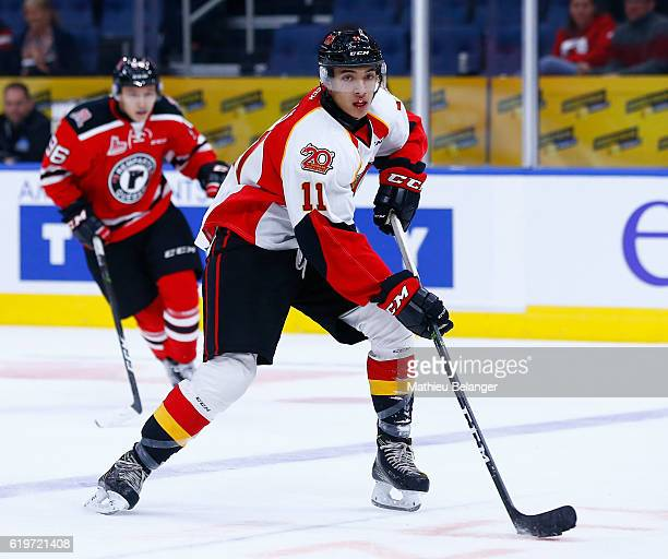 Artagnan Joly of the Baie Comeau Drakkar skates against the Quebec Remparts during their QMJHL hockey game at the Centre Videotron on October 14 2016...
