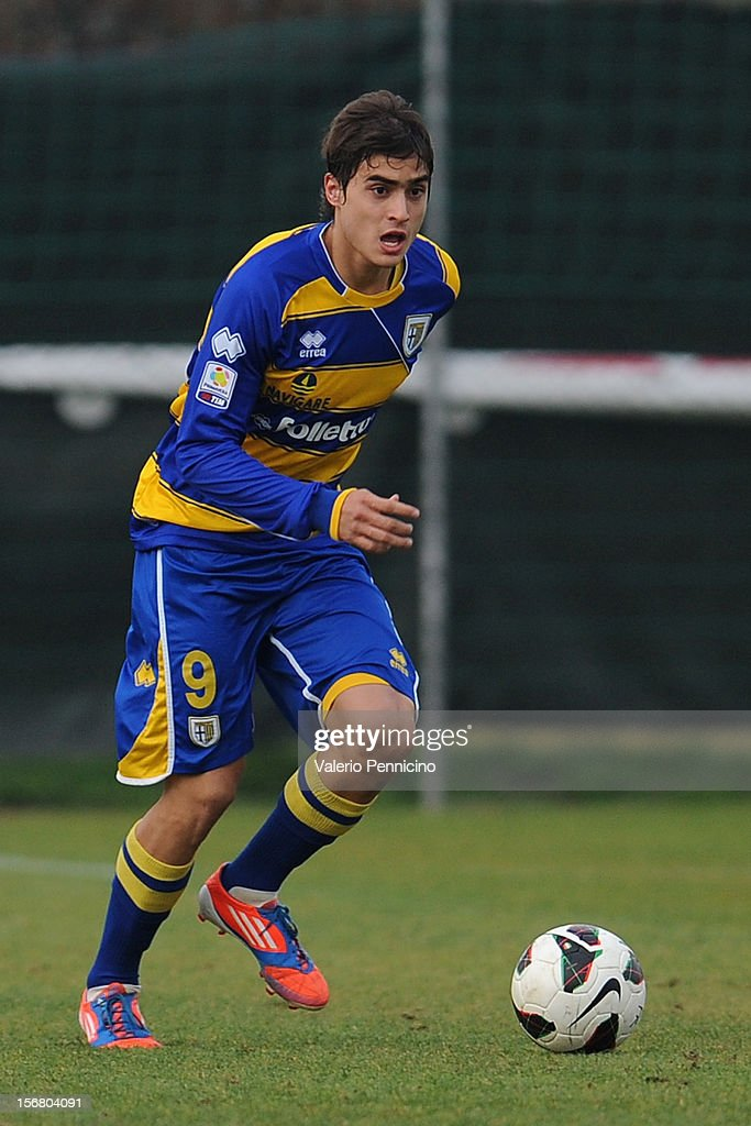 Arteaga of FC Parma in action during the Juvenile match between Juventus FC and FC Parma at Juventus Center Vinovo on November 21, 2012 in Vinovo, Italy.