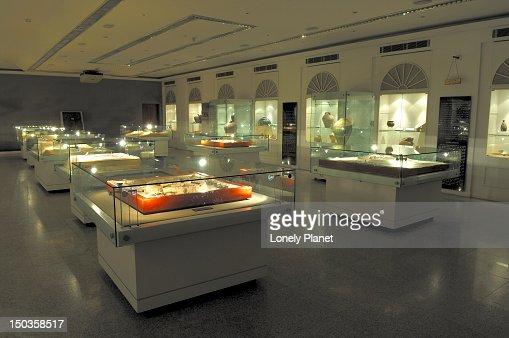 Artefact displays, Dubai Museum.