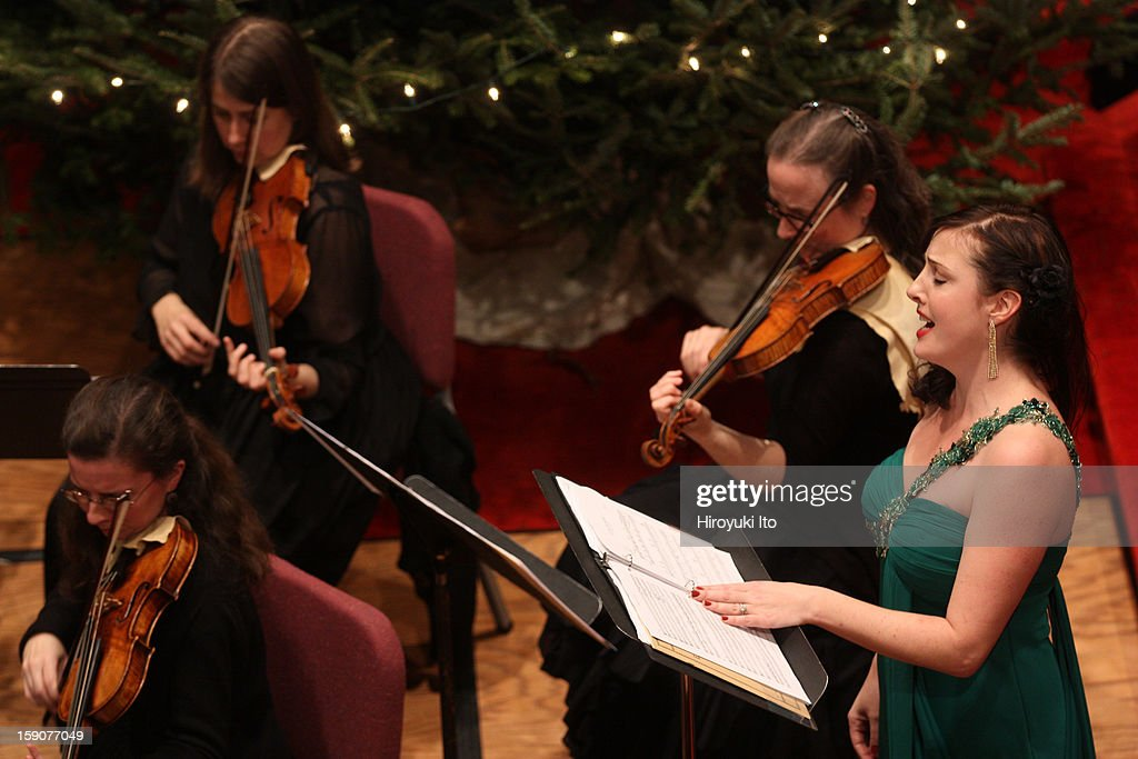 Artek Orchestra in all-Mozart program at Immanuel Lutheran Church on Saturday night, December 29, 2012.This image:The soprano Sarah Chalfy performing 'Ch'io mi scordi di te.'