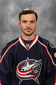 Artem Anisimov of the Columbus Blue Jackets poses for his official headshot for the 20142015 season on September 18 2014 at the Nationwide Arena in...