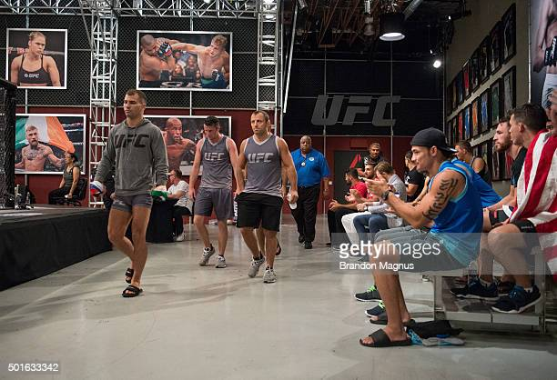 Artem Lobov prepares to enter the Octagon before facing Julian Erosa during the filming of The Ultimate Fighter Team McGregor vs Team Faber at the...