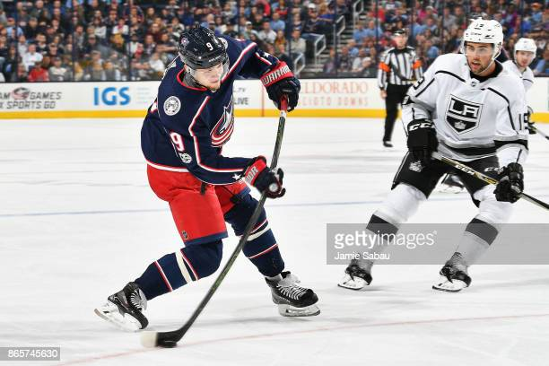 Artemi Panarin of the Columbus Blue Jackets skates against the Los Angeles Kings on October 21 2017 at Nationwide Arena in Columbus Ohio
