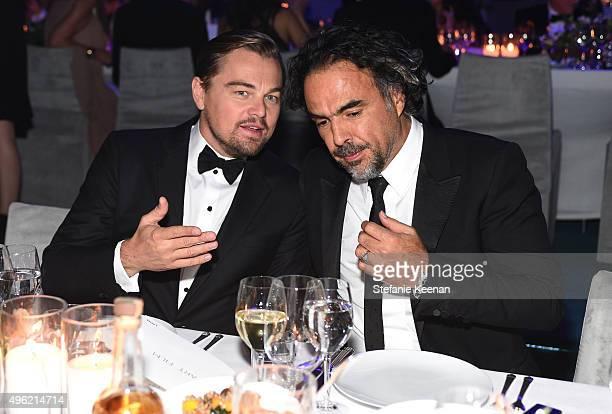ArtFilm Gala Cochair Leonardo DiCaprio and honoree Alejandro Gonzalez Inarritu attend LACMA 2015 ArtFilm Gala Honoring James Turrell and Alejandro G...