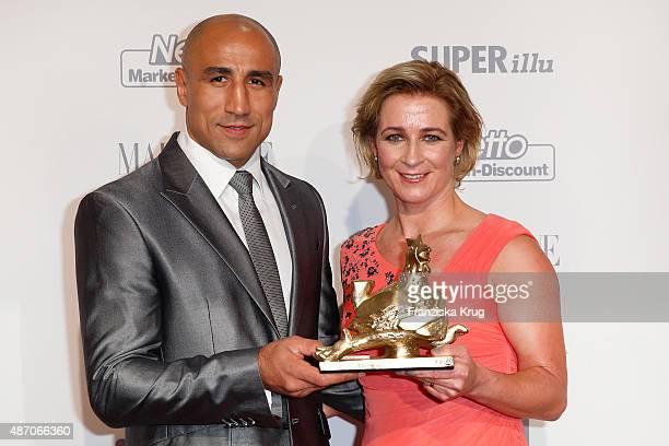 Arthur Abraham and Claudia Pechstein attend Madeleine At Goldene Henne 2015 on September 05 2015 in Berlin Germany
