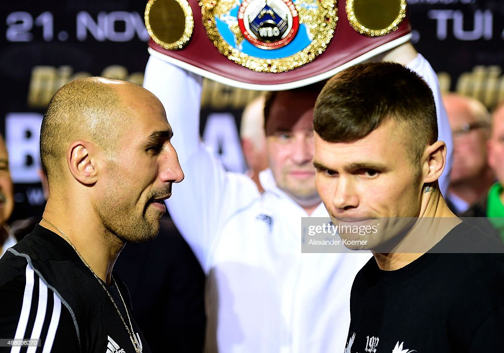 arthur abraham v martin murray weigh in getty images. Black Bedroom Furniture Sets. Home Design Ideas