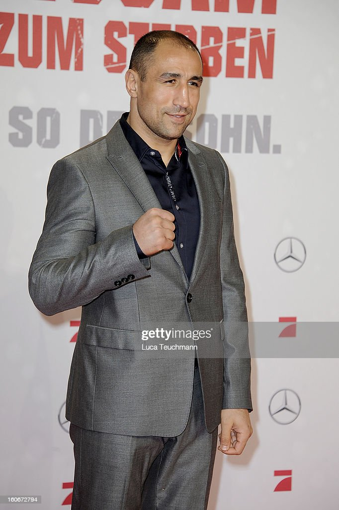 <a gi-track='captionPersonalityLinkClicked' href=/galleries/search?phrase=Arthur+Abraham&family=editorial&specificpeople=643669 ng-click='$event.stopPropagation()'>Arthur Abraham</a> attends the premiere of 'Die Hard - Ein Guter Tag Zum Sterben' at Sony Center on February 4, 2013 in Berlin, Germany.