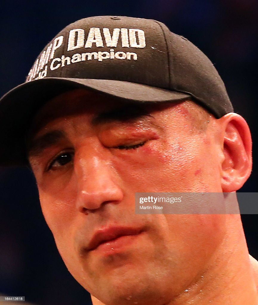 <a gi-track='captionPersonalityLinkClicked' href=/galleries/search?phrase=Arthur+Abraham&family=editorial&specificpeople=643669 ng-click='$event.stopPropagation()'>Arthur Abraham</a> of Germany looks dejected after the WBO World Championship Super Middleweight title fight at Getec Arena on March 23, 2013 in Magdeburg, Germany.