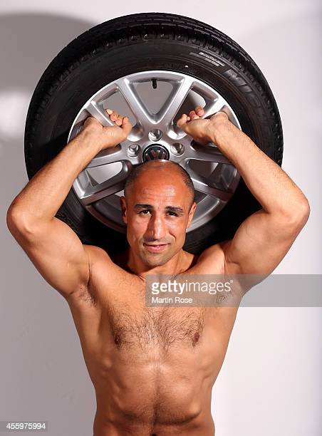 Arthur Abraham of Germany poses during a photocall at the Maritim Hotel on September 23 2014 in Kiel Germany Arthur Abraham will defend his...