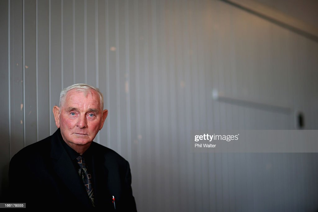 Arthur Allan Thomas pictured prior to a press conference at the Pukekawa Hall on April 10, 2013 in Auckland, New Zealand. Arthur Allan Thomas was pardoned for the 1970 murder of Jeanette and Harvey Crewe and addressed the media following comments recently regarding the integrity of the late police prosecutor Bruce Hutton.