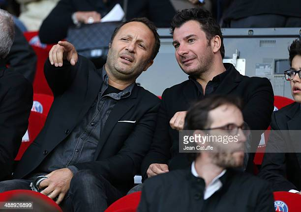 Arthur and Michael Youn attend the french Ligue 1 match between Paris SaintGermain FC and Stade Rennais FC at Parc des Princes stadium on May 7 2014...