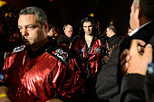 Arthur Beterbiev makes his way to the ring during the comain event light heavyweight bout against Gabriel Campillo at Pepsi Coliseum on April 4 2015...