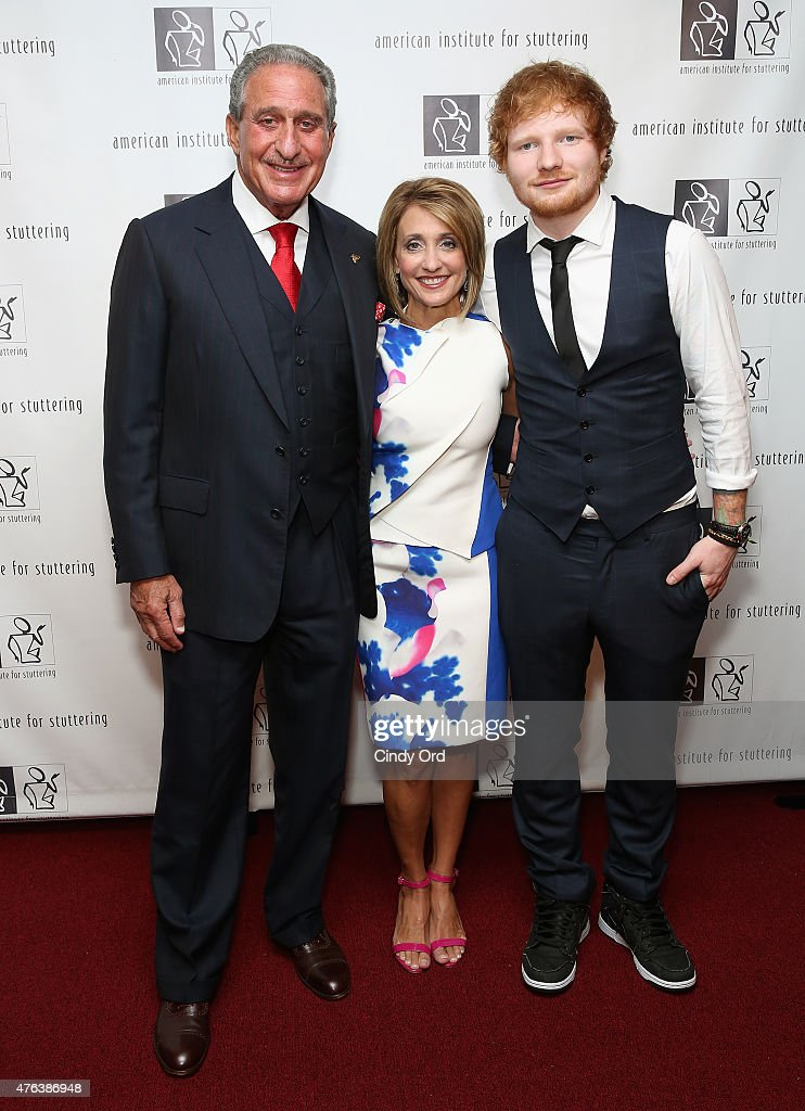 Arthur blank ed sheeran and angie macuga attend 9th annual american