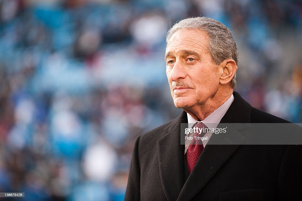 Arthur Blank owner of the Atlanta Falcons looks on during the game against the Carolina Panthers at Bank of America Stadium on December 11 2011 in...