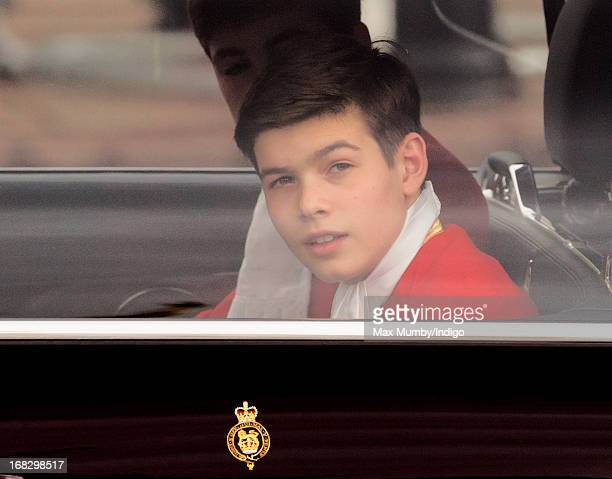 Arthur Chatto travels from Buckingham Palace to attend the State Opening of Parliament on May 8 2013 in London England Queen Elizabeth II unveiled...