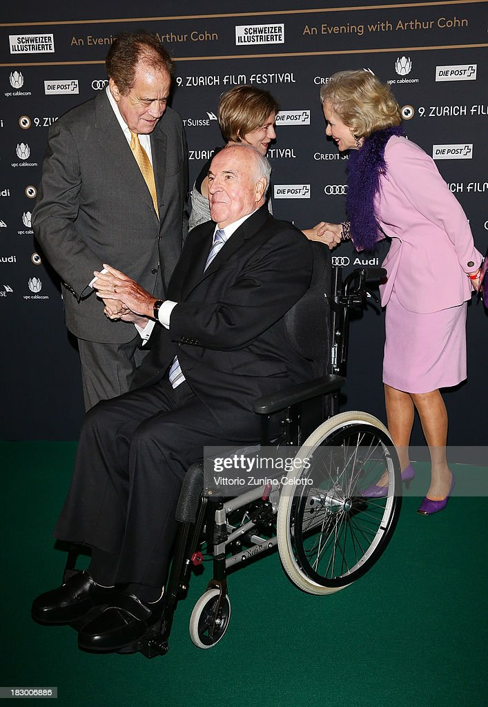 Arthur Cohn and Helmut Kohl attend an evening with Arthur Cohn during the Zurich Film Festival 2013 on October 3, 2013 in Zurich, Switzerland.