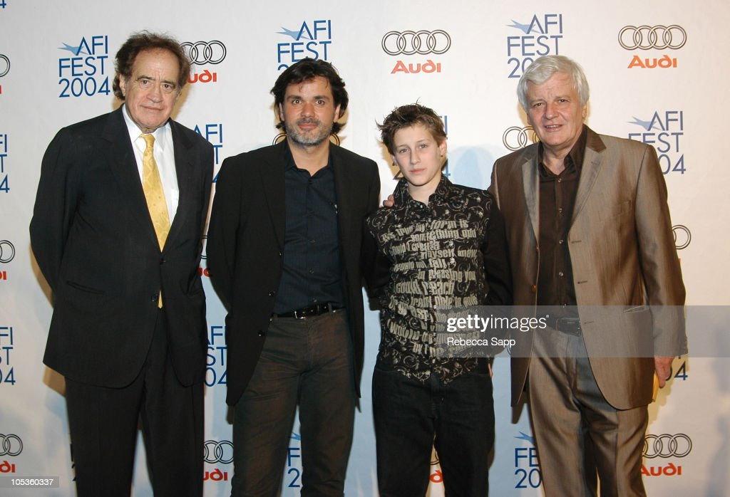 Arthur Cohn producer of 'The Chorus Christophe Barratier director of 'The Chorus' JeanBaptiste Maunier and Jacques Perrin producer of 'The Chorus'