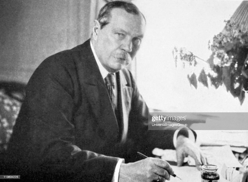 <a gi-track='captionPersonalityLinkClicked' href=/galleries/search?phrase=Arthur+Conan+Doyle&family=editorial&specificpeople=203200 ng-click='$event.stopPropagation()'>Arthur Conan Doyle</a> (1859-1930) Scottish author and creator of the famous fictional detective Sherlock Holmes. Doyle also carried out experimetns in psychical research.