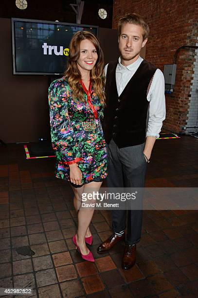 Arthur Darvill and guest attend the star studded VIP launch party for truTV a brand new larger than life TV channel launching on 4th August at the...
