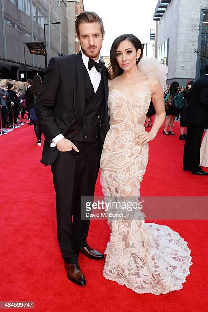 Arthur Darvill and Zrinka Cvitesic attend the Laurence Olivier Awards at The Royal Opera House on April 13 2014 in London England