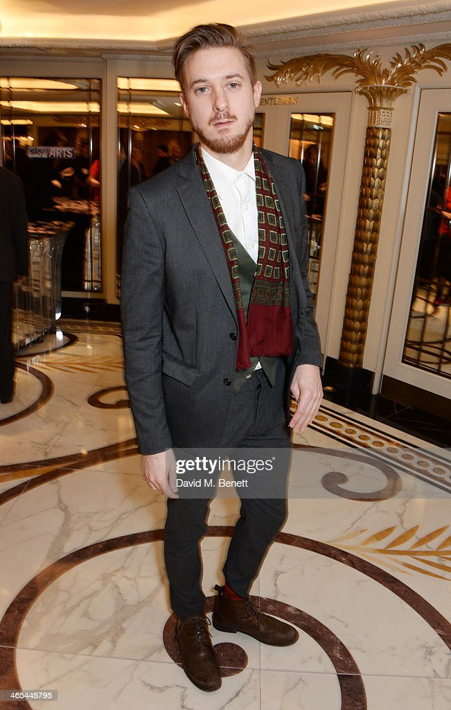 Arthur Darvill attends a drinks reception at the South Bank Sky Arts awards at the Dorchester Hotel on January 27, 2014 in London, England.