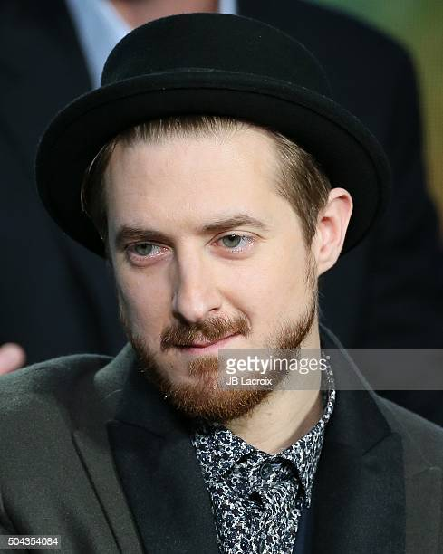 Arthur Darvill speaks onstage during the CW Network 2016 Winter TCA Press Tour panel at The Langham Huntington Hotel and Spa on January 10 2016 in...