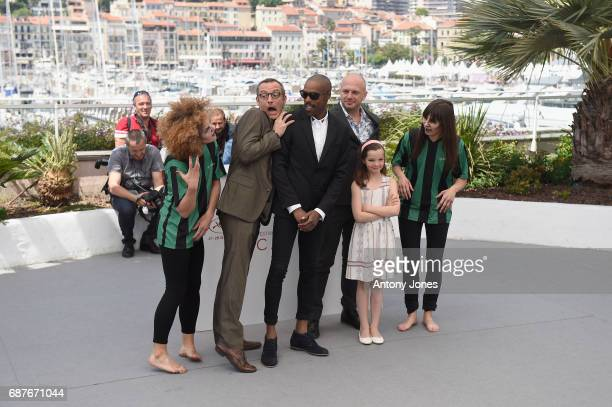 Arthur De Pins Mat Bastard Alexis Ducord Esther CorvezBeaudoin and members of the cast attend the 'Zombillenium' photocall during the 70th annual...