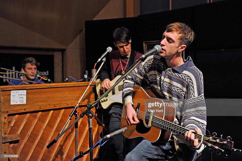 Arthur Delaney of Born Blonde performs at the Acoustic Sessions with Absolute Radio for emerging new artists at Abbey Road Studios on November 27, 2012 in London, England.