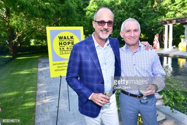Arthur Dunnam and Roy Cohen attend Kickoff for Second Annual Walk of Hope 5K Run at Fairwind on July 21 2017 in Southampton New York