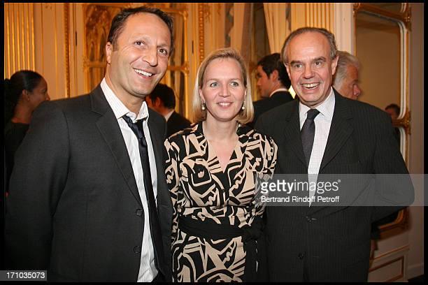 Arthur Essebag Virginie Calmels at Didier Quillot Receives The Honour Chevalier De La Legion D'Honneur At The Minister Of Culture