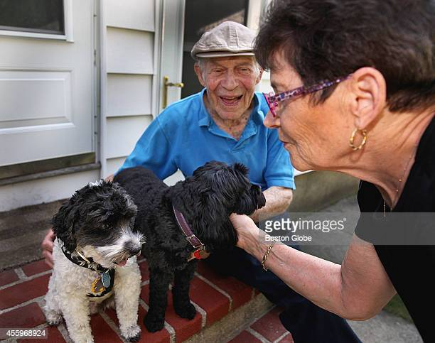 Arthur Gerstenfeld and wife Susan VernonGerstenfeld with Cockapoos Brendon and Tessa in their Newton homeThursday September 4 2014