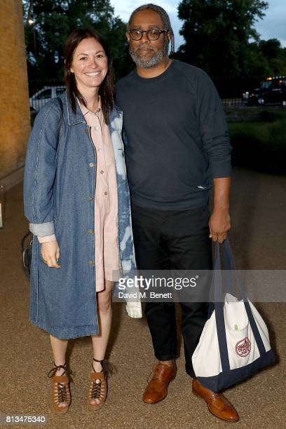 Arthur Jafa and Lucy Raven attend the COS celebration of The Serpentine Parks Nights 2017 at The Serpentine Pavilion on July 12 2017 in London England