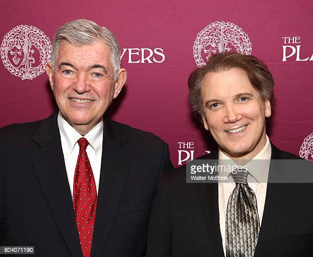 Arthur Makar and Charles Busch attend the 2016 Helen Hayes Award Dinner honoring Barbara Cook at The Players Club on November 17 2016 in New York City