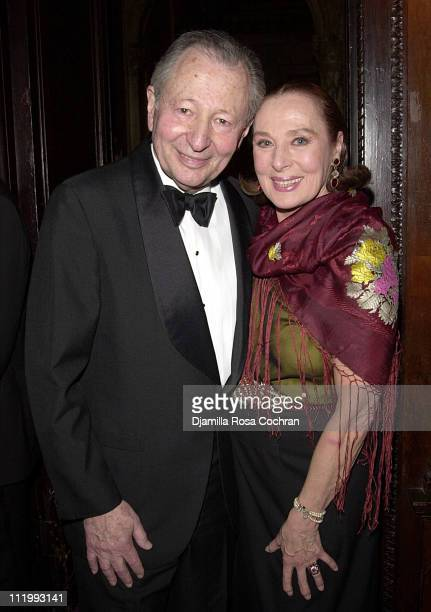 Arthur Manson and Rita Gam during New York Oscar Night Party at Le Cirque 2000 in New York City New York United States