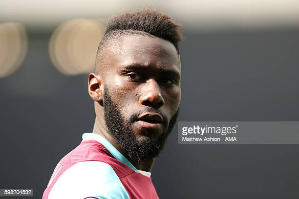 Arthur Masuaku of West Ham during the Premier League match between Manchester City and West Ham United at Etihad Stadium on August 27 2016 in...
