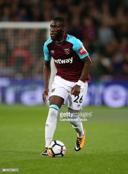 Arthur Masuaku of West Ham United during the Premier League match between West Ham United and Brighton and Hove Albion at London Stadium on October...