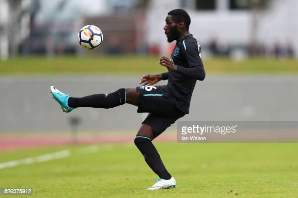 Arthur Masuaku of West Ham United in action during a Pre Season Friendly between Manchester City and West Ham United at the Laugardalsvollur stadium...