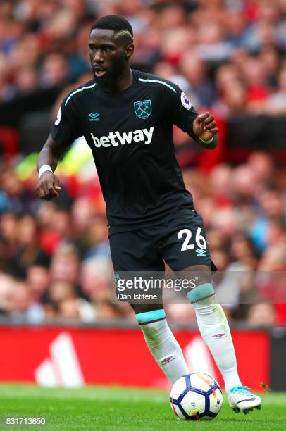 Arthur Masuaku of West Ham United in action during the Premier League match between Manchester United and West Ham United at Old Trafford on August...