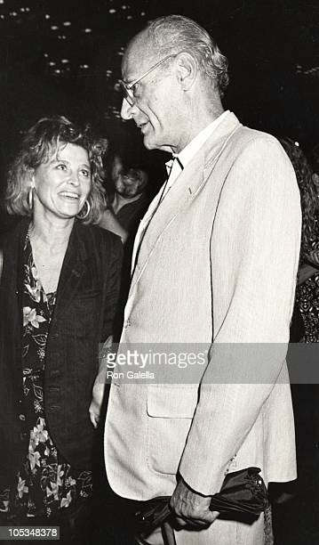 Arthur Miller and Julie Christie during 'Death of a Salesman' Screening at Paramount Theater in New York City New York United States