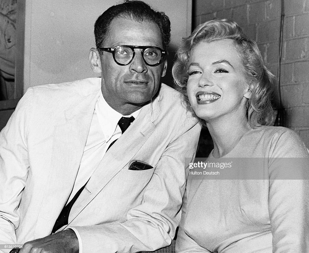 Arthur Miller with Marilyn Monroe in 1956. Arthur Miller, an American playwright born in 1915, was known for his works Death of a Salesman (1949) and The Crucible (1953). He married actress Marilyn Monroe (1926-1962), who performed in Bus Stop (1956) and The Misfits (1961) which Miller wrote for her. They divorced later in 1961.
