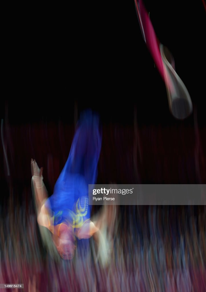 Arthur Nabarrete Zanetti of Brazil competes on the Artistic Gymnastics Men's Rings on Day 10 of the London 2012 Olympic Games at North Greenwich Arena on August 6, 2012 in London, England.