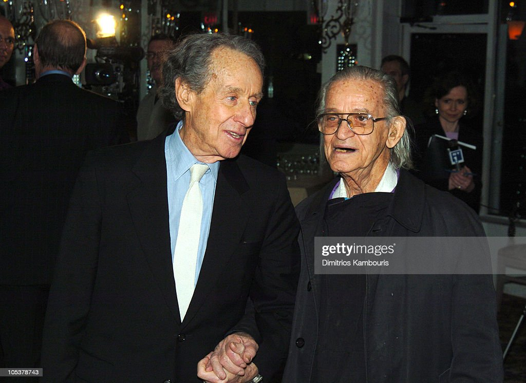 Arthur Penn and Professor Irwin Corey during Opening Night of 'Sly Fox' After Party at Tavern On The Green in New York City New York United States