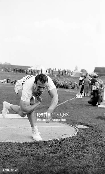 Arthur Rowe of Great Britain in action on 4th April 1960