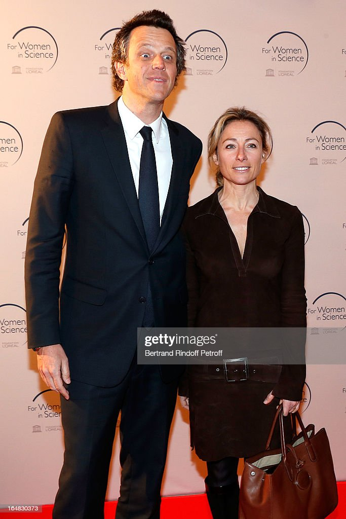 Arthur Sadoun and wife Anne Sophie Lapix attend 'L'Oreal-UNESCO Awards' For Women In Science 2013 - Ceremony at La Sorbonne on March 28, 2013 in Paris, France.