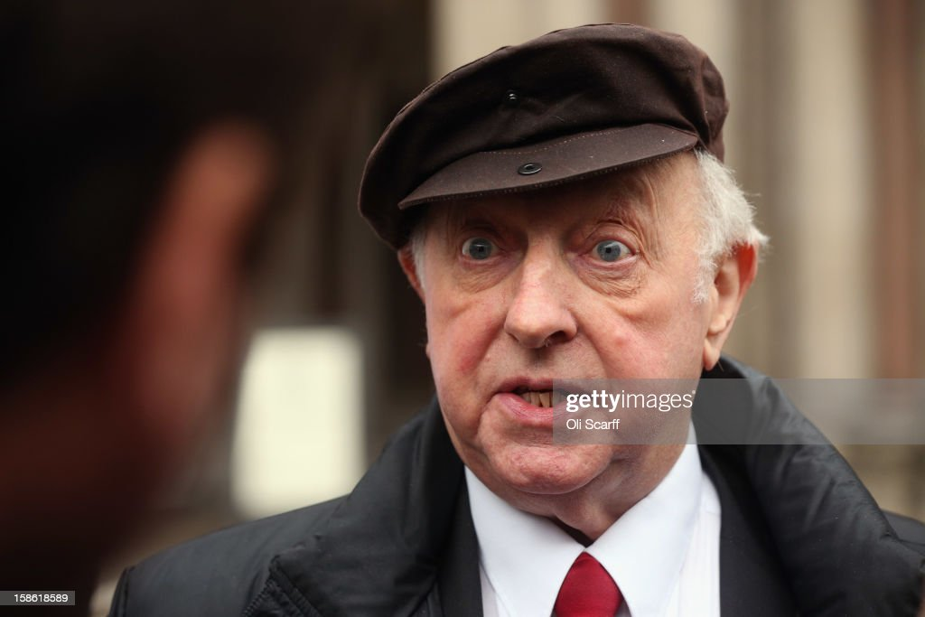 Arthur Scargill, the former leader of the National Union of Mineworkers, leaves the Royal Courts of Justice on December 21, 2012 in London, England. Mr Scargill has lost his High Court battle for the union to continue to pay for his London flat in the Barbican. He was president of the NUM until July 2002 and led it during the miners' strike from 1984 to 1985.