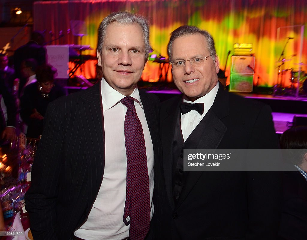 Arthur Sulzberger and David Zaslav attend the Tenth Annual UNICEF Snowflake Ball at Cipriani Wall Stree on December 2 2014 in New York City