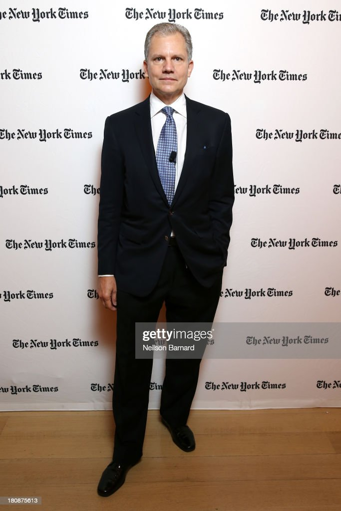 Arthur Sulzberger Jr Publisher of the New York Times attends the New York Times Schools For Tomorrow Conference at the TimesCenter on September 17...